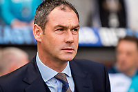 Manager of Swansea City, Paul Clement looks on during the Premier League match between Swansea City and West Bromwich Albion at The Liberty Stadium, Swansea, Wales, UK. Sunday 21 May 2017 (Photo by Athena Pictures/Getty Images)