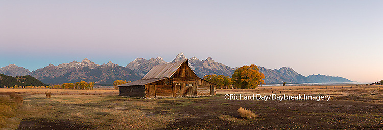 67545-08807 Sunrise at T.A. Moulton Barn, Grand Teton National Park, WY