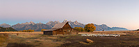 67545-08807 Sunrise at T.A. Moulton Barn, Grand Teton National Park, WY