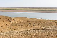 Fluss Amudarya nahe Urgench, Usbekistan, Asien<br /> river Amurdarya near Urgesch, Uzbekistan, Asia