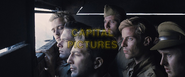 Jack O'Connell, Luke Treadaway<br /> in Unbroken (2014) <br /> *Filmstill - Editorial Use Only*<br /> CAP/FB<br /> Image supplied by Capital Pictures