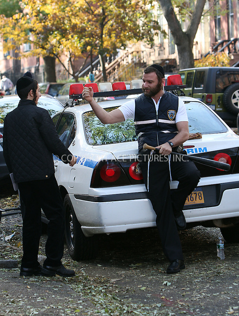 WWW.ACEPIXS.COM....November 12 2012, New York City....Actor Liev Schreiber (dressed as a member of the Williamsburg Shomrin Volunteer Patrol) on the Brooklyn set of the new movie 'Fading Gigolo' on November 12 2012 in New York City........By Line: Zelig Shaul/ACE Pictures......ACE Pictures, Inc...tel: 646 769 0430..Email: info@acepixs.com..www.acepixs.com