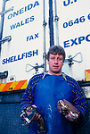 Shellfish  fisherman had their fishing shut down due to  the 72,000 tonne  oil  spill on the Pembrokeshire coast from the Sea Empress oil tanker.  it took years before the ban was lifted.<br /> 1996