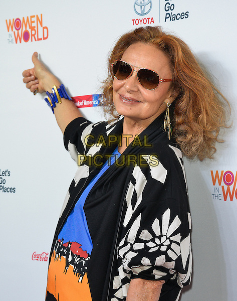 NEW YORK, NY - APRIL 3: Diane von Furstenberg attending the 5th annual Women in the World summit at the David H. Koch Theater at Lincoln Center in New York, New York on April 3, 2014.  <br /> CAP/MPI/RTNThompson<br /> &copy;RTNThompson/MediaPunch/Capital Pictures