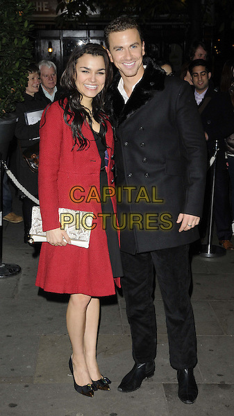LONDON, ENGLAND - DECEMBER 12: Samantha Barks &amp; Richard Fleeshman at the English National Ballet Christmas Party before a performance of &quot;The Nutcracker&quot; at the London Coliseum, St Martins Lane Hotel, St Martin's Lane, on Thursday December 12, 2013 in London, England, UK.<br /> CAP/CAN<br /> &copy;Can Nguyen/Capital Pictures