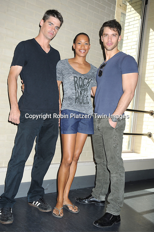 Ben Jorgenson, Kearran Giovanni and David Gregory   attends the Daytime Stars and Strikes Charity Bowling Event benefitting the American Cancer Society on ..October 9, 2011 at Bowlmor Lanes in Times Square.