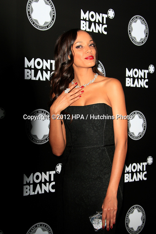 LOS ANGELES - OCT 2:  Selita Ebanks arrives at the 2012 Montblanc De La Culture Arts Gala at Chateau Marmont on October 2, 2012 in Los Angeles, CA