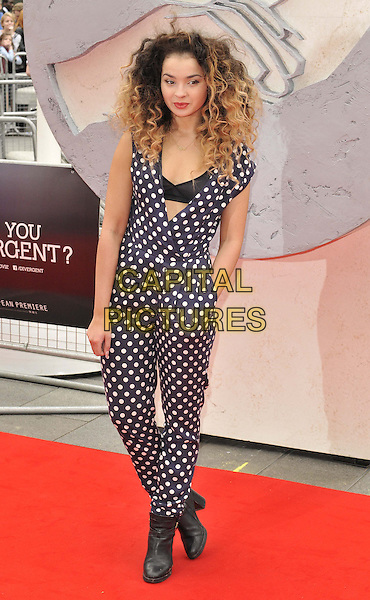 LONDON, ENGLAND - MARCH 30: Ella Eyre attends the &quot;Divergent&quot; UK film premiere, Odeon Leicester Square cinema, Leicester Square, on Sunday March 30, 2014 in London, England, UK.<br /> CAP/CAN<br /> &copy;Can Nguyen/Capital Pictures