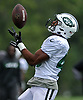 Trenton Cannon #40 of the New York Jets makes a catch during Training Camp at the Atlantic Health Jets Training Center in Florham Park, NJ on Tuesday, Aug. 7, 2018.