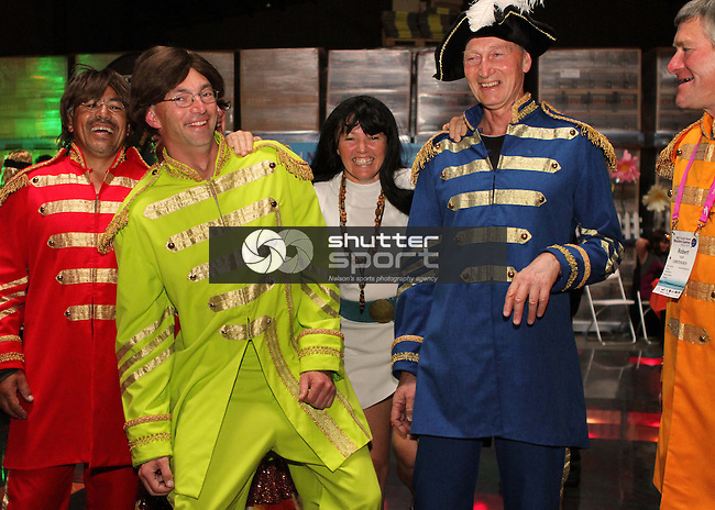 Solid Gold Hard Days Night Beatles Party at McCashin's Brewery<br /> SI Masters Games, 22 October 2011, Nelson, New Zealand<br /> Photo: Marc Palmano/shuttersport.co.nz
