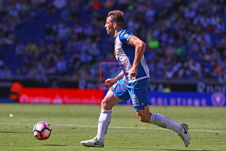League Santander 2016/2017. Game: 37.<br /> RCD Espanyol vs Valencia CF: 0-1.<br /> Victor Sanchez.