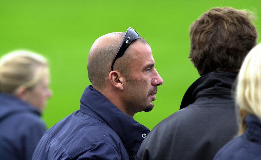 Photo. Richard Lane. .Harlequins v Bristol. Zurich Premiership. 16/9/2000.Gianluca Vialli watches the match.