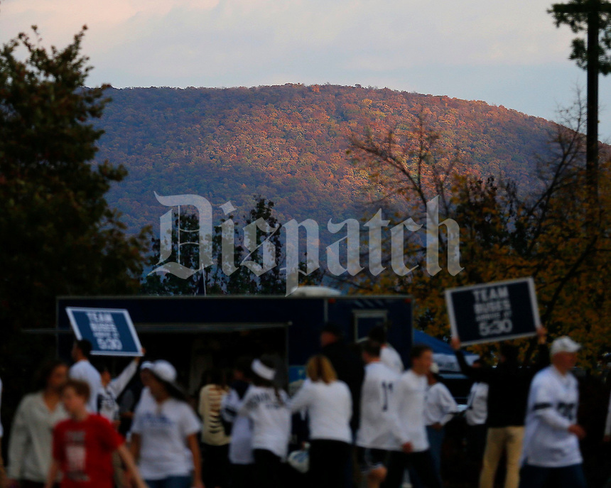 A crowd gathers in Happy Valley before Saturday's NCAA Division I football game at Beaver Stadium in University Park, PA on October 25, 2014. (Columbus Dispatch photo by Jonathan Quilter)