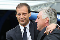 Juventus coach Massimiliano Allegri and Real Madrid´s coach Carlo Ancelotti
