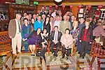 James Houlihan, Currazgh, Aghadoe, Killarney, pictured with family and former colleagues as he celebrated his retirement from the ESB after a total of 45 years service, in the Killarney Avenue Hotel on Friday night.