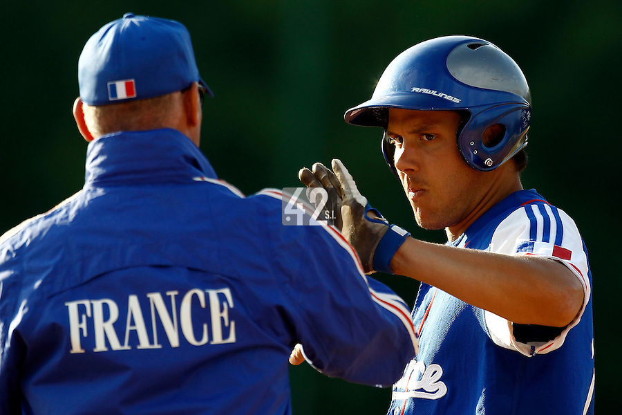 24 June 2011: Boris Marche of Team France is seen during France 8-5 win over UCLA Alumni, at the 2011 Prague Baseball Week, in Prague, Czech Republic.