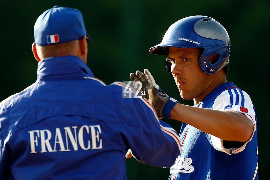 24 June 2011: Boris Marche of Team France is seen during France 8-5 win over UCLA Alumni, at the 2011 Prague Baseball Week, in Prague, Czech Republic.