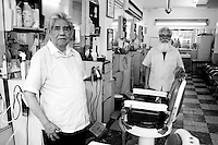 Miguel and David at their barber shop in the colonia Condesa.  A buisnes that has been around for decades.