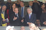 Real Madrid's president Florentino Perez and Atletico de Madrid's president Enrique Cerezo during La Liga match between Real Madrid and Atletico de Madrid at Santiago Bernabeu Stadium in Madrid, April 08, 2017. Spain.<br /> (ALTERPHOTOS/BorjaB.Hojas)