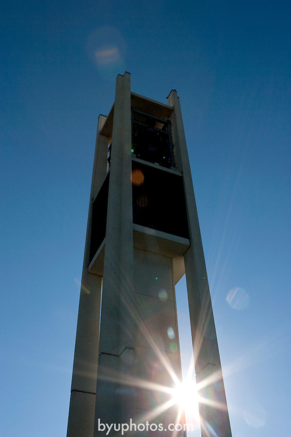 0610-01 BYU General Campus Scenics..GCS..Bell Tower, Sunrise..October 2, 2006..Photography by Jaren Wilkey/BYU..Copyright BYU Photo 2006.All Rights Reserved.photo@byu.edu   (801)422-7322