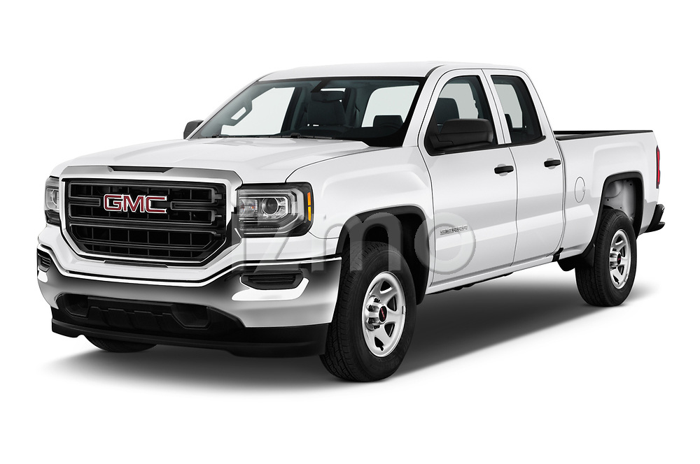 2019 GMC Sierra 1500 Limited Base 4 Door Pick Up angular front stock photos of front three quarter view