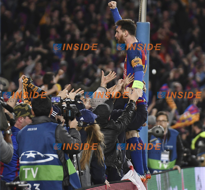 Esultanza Lionel Messi <br /> Barcellona (Spagna) 08/03/2017 - Champions League / Barcellona - Paris Saint Germain / foto Imago/Insidefoto <br /> ITALY ONLY