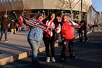 Harrison, NJ - Tuesday April 10, 2018: Fans prior to leg two of a  CONCACAF Champions League semi-final match between the New York Red Bulls and C. D. Guadalajara at Red Bull Arena. C. D. Guadalajara defeated the New York Red Bulls 0-0 (1-0 on aggregate).