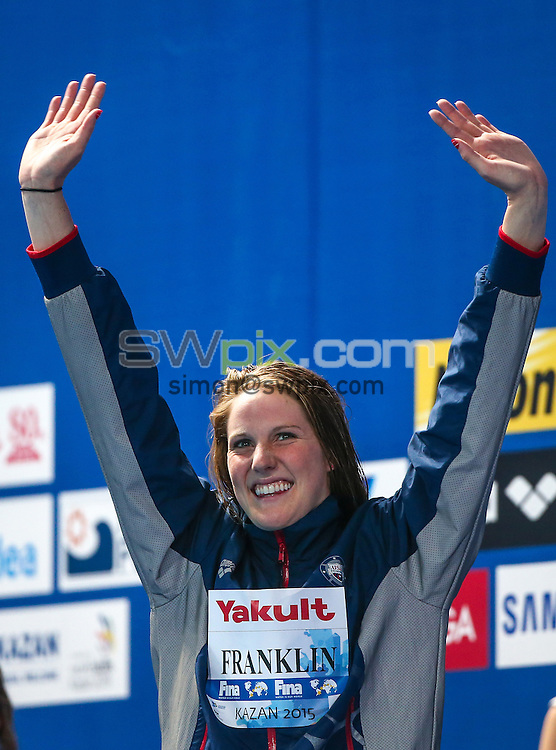 Picture by Alex Whitehead/SWpix.com - 05/08/2015 - Swimming - 16th FINA World Swimming Championships 2015 - Kazan Arena Stadium, Kazan, Russia - USA's Missy Franklin.