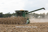 63801-07011 Farmer harvesting corn, Marion Co., IL