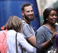 NEW YORK, NY-July 24: Sandro Kopp,boyfriend of  Tida Swinton shooting on location for Netflix & Plan B Enterainment  film Okja in New York. NY July 24, 2016. Credit:RW/MediaPunch