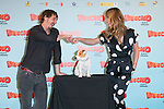 """Spanish Actress Patricia Conde Ivan Massague and Cook the dog attends thethe photocall of the presentation of the movie """"Pancho El Perro Millonario"""" at the NH Palacio de Tepa Hotel in Madrid, Spain. June 3, 2014. (ALTERPHOTOS/Carlos Dafonte)"""