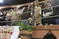 Viernes 8, Enero 2013.<br /> Jos&eacute; Calzada(c) gobernador de Queretaro en la Corrida de Toros.<br />  Alejandro Talavante y Octavio Garc&iacute;a &quot;El Payo&quot; salieron a hombros de la plaza de toros de Juriquilla tras cortar dos orejas cada uno de un buen encierro de Los Encinos. Hermoso de Mendoza no pudo acompa&ntilde;ar en volandas a los toreros de a pie por su fallo con el rej&oacute;n de muerte. Rodolfo Bello, que tomaba la alternativa, fue ovacionado. A7F /NortePhoto