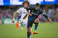 Santa Clara, CA - Saturday, May 27, 2017: Los Angeles Galaxy beat the San Jose Earthquakes 4-2 at the Avaya Stadium in Santa Clara.