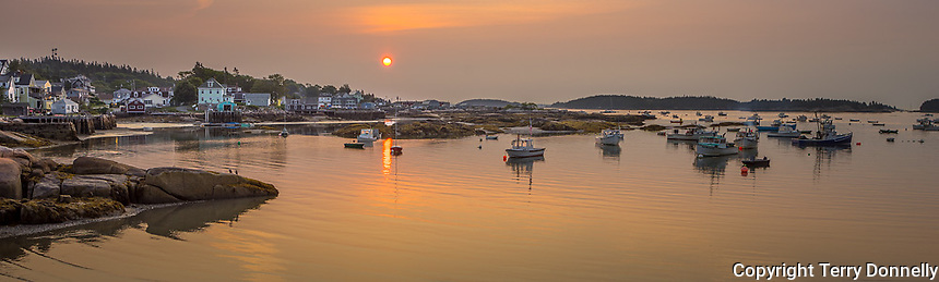 Stonington, Maine:<br /> Stonington Harbor reflections at sunrise