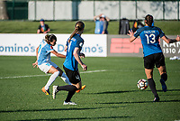 Kansas City, MO - Sunday May 07, 2017: Marta Vieira Da Silva scores, Becky Sauerbrunn, Brittany Taylor during a regular season National Women's Soccer League (NWSL) match between FC Kansas City and the Orlando Pride at Children's Mercy Victory Field.