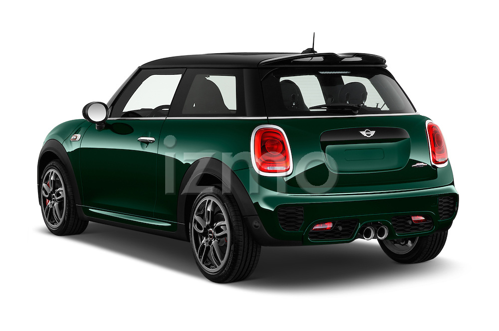 Car pictures of rear three quarter view of 2016 MINI MINI JCW 3 Door Hatchback Angular Rear