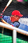 4 July 2010: Washington Nationals pitcher Stephen Strasburg takes batting practice prior to a game against the New York Mets at Nationals Park in Washington, DC. The Mets defeated the Nationals 9-5 in the fourth game and splitting their 4-game series. Mandatory Credit: Ed Wolfstein Photo