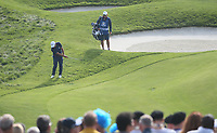 Francesco Molinari (Team Europe) finds the rough on the 9th during Friday's Fourballs, at the Ryder Cup, Le Golf National, Îls-de-France, France. 28/09/2018.<br /> Picture David Lloyd / Golffile.ie<br /> <br /> All photo usage must carry mandatory copyright credit (© Golffile | David Lloyd)