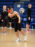 14.10.2016 Silver Ferns Mai Wilson in action at the Silver Ferns training at the Auckland Netball Centre in Auckland. Mandatory Photo Credit ©Michael Bradley.