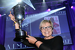 Anne Fitzpatrick, Leixlip Musical and Variety Group who won the Best Overall Show / Gilbert Section for their production of  'Legally Blonde' celebrates after their victory at the Association of Irish Musical Societies (AIMS) annual awards in the INEC, Killarney at the weekend. <br /> Photo Don MacMonagle<br /> <br /> repro free photo AIMS<br /> Further info: Kate Furlong PRO kate.furlong84@gmail.com