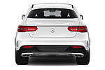 Straight rear view of a 2019 Mercedes Benz GLE Coupe AMG GLE43 5 Door SUV stock images