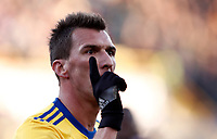 Calcio, Serie A: Bologna vs Juventus, stadio Renato D'Allara, Bologna,17 dicembre 2017.<br /> Juventu's Mario Mndzukic celebrates after scoring during the Italian Serie A football match between Bologna and Juventus at Bologna's Renato D'Allara stadium, December 17, 2017.<br /> UPDATE IMAGES PRESS/Isabella Bonotto
