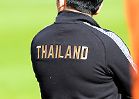 20190301 - LARNACA , CYPRUS : illustration picture shows the Thailand logo on the back of the shirt  during a women's soccer game between Thailand and Mexico , on Friday 1 March 2019 at the GSZ Stadium in Larnaca , Cyprus . This is the second game in group B for both teams during the Cyprus Womens Cup 2019 , a prestigious women soccer tournament as a preparation on the FIFA Women's World Cup 2019 in France . PHOTO SPORTPIX.BE | DAVID CATRY