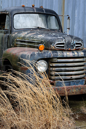 Here sits a gritty and flaking vintage Ford pickup truck, a mid-century F model parked in the blowing jingweeds. If miles were money and this old relic could talk, you would have a very expensive volume of stories to ride around in. But, living history is nearly a fantasy, so only your imagination is left standing there holding the brush to paint over the holes that history has left you. And it can be entertaining.<br />