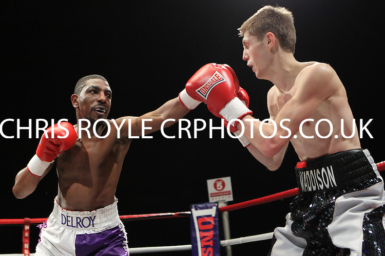 Jason Cunningham vs Delroy Spencer in a Boxing contest at the Magna Centre, Rotherham, promoted by Hennessy Sports - 18/02/12 - MANDATORY CREDIT: Chris Royle