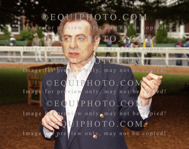 Actor/Comedian, Jackie Mason at Monmouth Park. 6-13-98