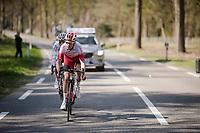 Kenneth Vanbilsen (BEL/Cofidis) & Dries De Bondt (BEL/Corendon-Circus) up front<br /> <br /> 107th Scheldeprijs (1.HC)<br /> One day race from Terneuzen (NED) to Schoten (BEL): 202km<br /> <br /> ©kramon