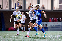 Allston, MA - Saturday Sept. 24, 2016: Abigail Dahlkemper, Natasha Dowie during a regular season National Women's Soccer League (NWSL) match between the Boston Breakers and the Western New York Flash at Jordan Field.