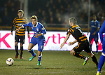 Lewis Macleod advances up the park