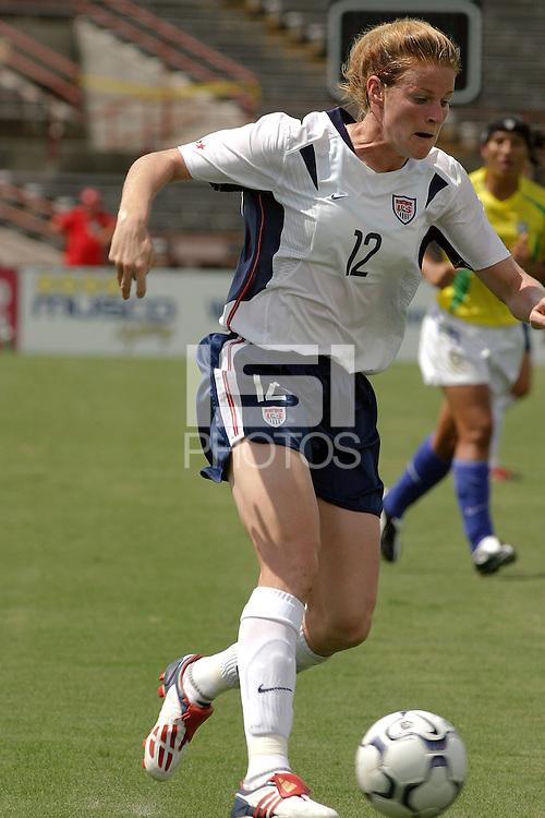 Cindy Parlow, USWNT vs Brazil.